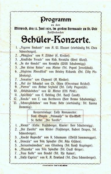 1929 Programm 12.6.1929 Ellersdorfer