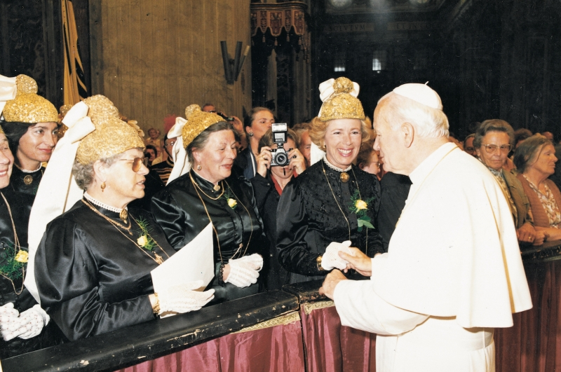 1990 im Mai bei Papst Johannes Paul