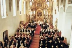 1985 100 Jahre Goldhauben. Festmesse in der Klosterkirche