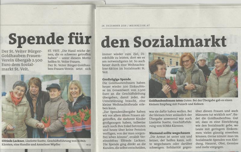 """Beitrag in """"Die Woche"""" vom 28.12.2016"""
