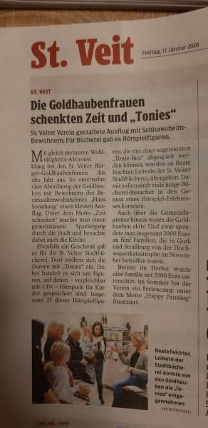 """Beitrag in """"Kleine Zeitung""""  Jänner 2020"""